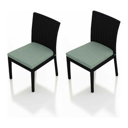 Urbana 2-Piece Patio Dining Chair Set, Spa Cushions