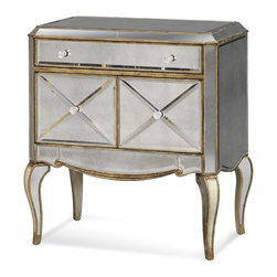 Bassett Mirror Co - Bassett Mirror Co T1267-990EC Collette Chairside Chest - Collette Magazine Chaiside Chest - T1267-990