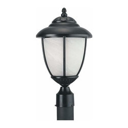 Sea Gull Lighting - 1-Light Post Lantern Black - 82950PBL-12 Sea Gull Lighting Yorktown 1-Light Outdoor Post Lantern with a Black Finish