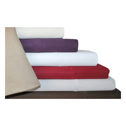 Bed Linens - Cotton 1500 Thread Count Solid Sheet Sets Queen Stone - 1500 Thread Count Solid Sheet Sets