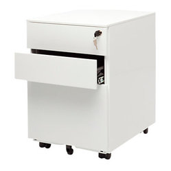 Blu Dot - Blu Dot Filing Cabinet No. 1, White - The Blu Dot Filing Cabinet No. 1 is a small ...