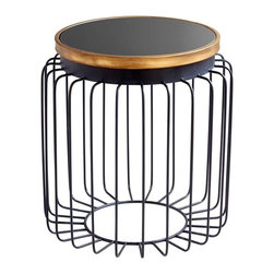Cyan Design - Cyan Design Brandy Table, Gold and Black - -Gold and Black Finish