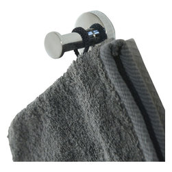 Zinc Alloy Wall Mounted Robe Hook Stainless Steel Chrome - This wall mounted hook is in zinc alloy and in stainless steel. Create convenient hanging spaces for towels, bathrobes, clothes and others accessories by taking advantage of unused space. Easily fixed to the wall or tile wall, the mounting hardware is included and invisible when fixed. Wipe clean. Color chrome. Base diameter 1.65-Inch and depth 1.89-Inch. This stainless steel hook features a modern design style that's perfect for the bathroom and helps you add richness to any living area! Complete your decoration with other products of the same collection. Imported.