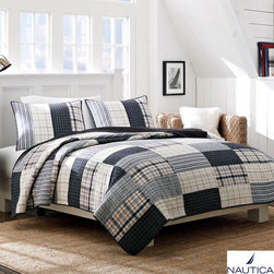 Nautica - Nautica Longview Cotton Reversible Quilt and Sham Separates - Nautica quilt and sham separates are a great way to update your room. The quilt is pieced and made of 100-percent yarn dye cotton. Reversible to create a totally different look. Quilts are machine washable. Shams are also available and sold individually.