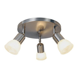 Premier - Three Light Canopy 11 feet Ceiling Fixture - Brushed Nickel - AF Lighting 617620 11in. D by 4-3/4in. H Contemporary Lighting Collection Canopy Ceiling Fixture, Brushed Nickel.
