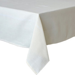 """Coulour Nature - PinStripe Tablecloth, Natural, 60"""" X 90"""" - PinStripe Tablecloth"""