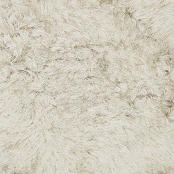 """Loloi Rugs - Loloi Rugs Royal Shag Collection - Beige, 3'-6"""" x 5'-6"""" - The Royal Shag lives up to its name with beautifully subtle variances in color. This sophisticated yet playful collection out of India features lush, hand-crafted strands of polyester."""