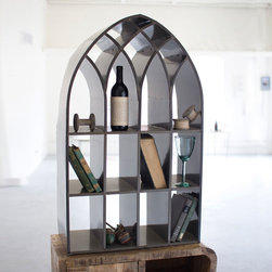 Raw Metal Arch Cubby - Nothing says classic beauty quite like sunlight streaming through an arched window. Recreate that scene and gain storage space with this attractive and modern cubby shelf.