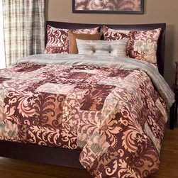 Siscovers - Barcelona Multicolor Six Piece Queen Duvet Set - - Moroccan-chic patchwork pattern  - Set Includes: Duvet - 94x98, Two Queen Shams - 30x20, One Decorative Pillow - 16x16, One Decorative Pillow - 26x14  - Inserts: Polyester  - Duvet Material: 100% Polyester  - Sham Material: 100% Polyester  - Pillow Material: 100% Polyester  - Workmanship and materials for the life of the product. SIScovers cannot be responsible for normal fabric wear, sun damage, or damage caused by misuse  - Reversible Duvet and Shams  - Care Instruction: Machine Wash  - Made in USA of Fabric made in China Siscovers - BARC-XDUQN6