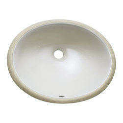 Avanity - 18 in. Undermount Sink - Undermount 18 in. Oval Vitreous China ceramic sink in Linen