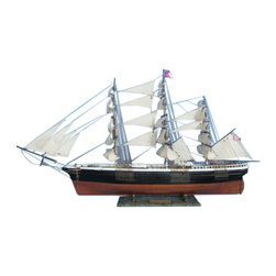 """Handcrafted Nautical Decor - Flying Cloud Limited 50"""" - Wooden Tall Ship Model -Tall Ship Model - Sold Fully Assembled"""