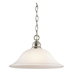 Kichler - Kichler 42902NI Tanglewood Single-Bulb Indoor Pendant w/Dome-Shaped Glass Shade - Product Features: