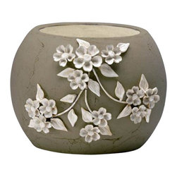 Cyan - Large Lily Planter, Yellow - Weight: 15.15 lbs.