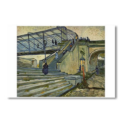 "PosterEnvy - The Bridge at Trinquetaille 1888 - Vincent van Gogh - Art Print POSTER - 12"" x 18"" The Bridge at Trinquetaille 1888 - Vincent van Gogh - Art Print POSTER on heavy duty durable Satin paper"