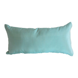 Garden Candy - Aqua Small Silk Pillow - Garden Candy's Silk Small Oblong Pillow is made of 100% Smooth Silk.  We offer a variety of vibrant colors that will enhance every item in the Garden Candy collection. Combine these pillows with our Seat Cushions or any of our other Pillows to add extra comfort, a pop of color, and a polished design.