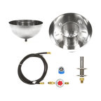 """Easy Fire Pits - DIY Table Top / Post Top 11"""" Fire Bowl Complete Fire Pit Kit; Stainless Steel - diy table top / post top 11"""" fire bowl complete fire pit kit; stainless steel; ready to mount and light!"""