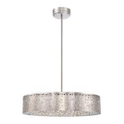 "Kovacs - Kovacs P986-077-L 1 Light 5.75"" Height Drum LED Pendant from the Hidden Gems Col - Single Light 5.75"" Height Drum LED Pendant from the Hidden Gems CollectionFeatures:"