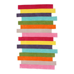NuLoom Handmade Kids Stripes Multi Rug - Hmm, I like this rug by NuLoom a lot. The colors are right. It's casual, playful. What do you all think? Is it too kid-centric for a main room, even one in South Florida?