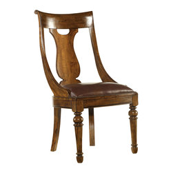 """Hooker Furniture - Hooker Furniture Tynecastle Side Chair Set of 2 5323-75410 - Named for the Tynecastle area of Northern England, the 50-piece Tynecastle collection is inspired by the manor homes and equestrian life of the English countryside. Tynecastle combines classic Georgian architechural details with more rustic timber-frame elements and leather accents, creating a """"manor home to tack room"""" Hunt Country flavor."""