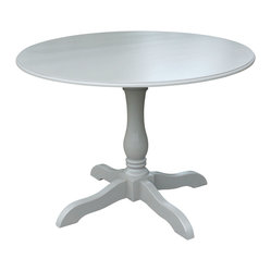 Fable Porch Furniture - Round Hampton Pedestal Dining Table - Who needs to go out? You can bring understated elegance to dining at home with our this charming pedestal table, finished in dreamy Charleston Gray.