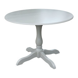 "Fable Porch Furniture - 42"" Round Hampton Pedestal Dining Table - Who needs to go out? You can bring understated elegance to dining at home with our this charming pedestal table, finished in dreamy Charleston Gray."