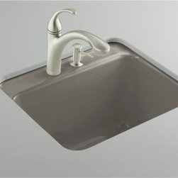 KOHLER - KOHLER K-6663-1U-K4 Glen Falls Undercounter Utility Sink with One-Hole Faucet Dr - KOHLER K-6663-1U-K4 Glen Falls Undercounter Utility Sink with One-Hole Faucet Drilling in Cashmere