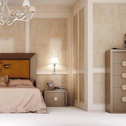 Macral Design Bedroom D04. Queen, Complete bedroom set - Bed set D04