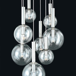 Sonneman Bubbles 8-Light Pendant - Oh, how I adore this little cluster of pendants, suspended like so many bubbles in the air. I'd put one over the dining room table or hung high in a dressing room. (If I were ever to have the luxury of my own dressing room!)