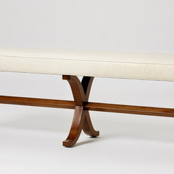 Susanna Bench - This bench would be great for slipping on your silk-stockings... in the 1940s. For me, this bench would probably hold yesterday's laundry — but it would do it so beautifully!