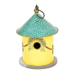 "Achla Designs - Achla Designs - Bastion Birdhouse - 8"" Diameter. 12"" High. Hand Painted on Iron and Wood. Back Door for Cleaning and Viewing. Bottom Holes for Drainage. 1.5"" Entrance Hole. Product Weight:  4 lbs."