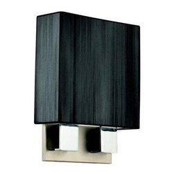 Kichler - Kichler Santiago 2-Light Brushed Nickel and Chrome Wall Light - 10439NCHB - This 2-Light Wall Light is part of the Santiago Collection and has a Brushed Nickel & Chrome Finish. It is Energy Efficient, and Title 24 Compliant.