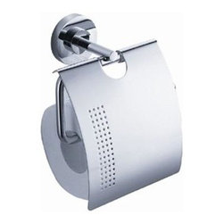 Fresca - Alzato Toilet Paper Holder in Triple Chrome Finish - Made with heavy duty brass. Triple chrome finish. 1-Year warranty on parts. 5.75 in. W x 2.5 in. D x 6 in. HAll of our Fresca bathroom accessories are made with brass with a triple chrome finish and have been chosen to compliment our other line of products including our vanities, faucets, shower panels and toilets. They are imported and selected for their modern, cutting edge designs.
