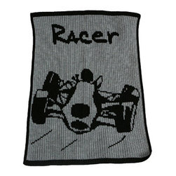 RR - Personalized Race Car Blanket - Personalized Race Car Blanket