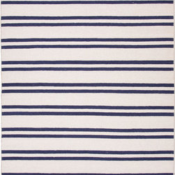 Jaipur Rugs - Flat Weave Stripe Pattern Ivory /White Wool Handmade Rug - MR63, 3.6x5.6 - An array of simple flat weave designs in 100% wool - from simple modern geometrics to stripes and Ikats. Colors look modern and fresh and very contemporary.