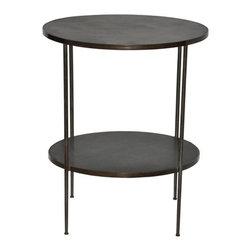 NOIR - NOIR Furniture - Rivoli Side Table with Stone - GTAB278ST - Features: