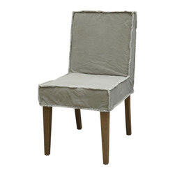 Marco Polo Imports - Avery Dining Chair, Khaki - Balancing dramatic scale with flea marketing-find design, the Avery dining chair offers comfortable seating in fresh lines and crisp canvas. Available in white and khaki.