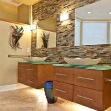 Contemporary Bathroom by Bickley Design Build Services Inc.