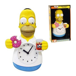KOOLEKOO - Simpsons Homer Simpson Animated Clock - Homer Simpson has one of the toughest decisions of his life to make. Which one will it be? This Simpsons Homer Simpson Animated Clock features moving eyes and arms, as Homer attempts to choose between two of his favorite things-- donuts and beer! The working timepiece measures 11 1/4-inches tall x 8-inches wide x 3-inches deep. Choose this for your shopping cart!