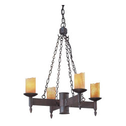 Troy Lighting - Weathered Rust Academy 4 Light Candle-Style Chandelier - For the designer seeking a truly rustic, classic feel the Academy 4 Light Chandelier cant be matched. Crafted from hand-forged iron in a weathered rust finish, it brings the appeal of the great halls of time into any living or dining space. Featuring four candelabras concealed in classic wax candle forms, it emits a unique glow that creates environment like no other. Academy pairs perfectly with classic wall sconces for a transitional throne room feel fit for royalty.