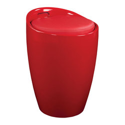 Standard Furniture - Standard Furniture Jetson Stool in Red - Jetson Stools have cool 60's modern styling and their compact size makes them perfect for an eating or entertaining area, or even in a bath or bedroom.