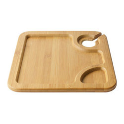 Bamboo Studio - Bamboo Studio Reusable BambooPlate 2/pk - Made from 100% natural aged bamboo wood.                                                       Features: