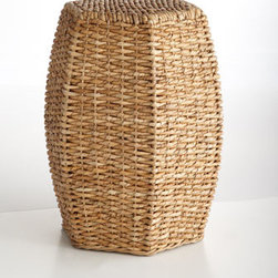 "Horchow - Seagrass Garden Seat - Exclusively ours. A fresh take on the classic garden stool, this beauty brings rustic charm to the room with its hexagonal shape and eco-friendly fibers. Made of handwoven seagrass over metal frame. ""14.25""W x 15.75""D x 20.25""T. Imported."