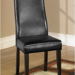 Armen Living - Parsons Chair (Set of 2) - Leather dining chair with a tremendous Lombard support back. Pirelli webbing and California Fire Retardant rated. Armen Living is the quintessential modern-day furniture designer and manufacturer. With flexibility and speed to market, Armen Living exceeds the customer's expectations at every level of interaction. Armen Living not only delivers sensational products of exceptional quality, but also offers extraordinarily powerful reliability and capability only limited by the imagination. Our client relationships are fully supported and sustained by a stellar name, legendary history, and enduring reputation. The groundbreaking new Armen Living line represents a refreshingly innovative creative collaboration with top designers in the home furnishings industry. The result is a uniquely modern collection gorgeously enhanced by sophisticated retro aesthetics. Armen Living celebrates bold individuality, vibrant youthfulness, sensual refinement, and expert craftsmanship at fiscally sensible price points. Each piece conveys pleasure and exudes self expression while resonating with the contemporary chic lifestyle. Features: -Material: Bi-Cast Leather.-Side chair from the 341 series.-Tremendous Lombard support back.-Pirelli webbing.-California fire retardant rated.-Two chairs included.-Distressed: No.Dimensions: -Overall dimensions: 38'' H x 16'' W x 18'' D.-Overall Product Weight: 14 lbs.Warranty: -Comes with standard 1 year limited warranty.