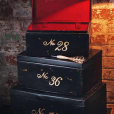 Eclectic Storage And Organization Small Stacking Metal Number Trunks