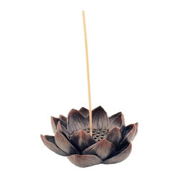 TLT - 4.5 Inch Hand Painted Resin Lotus Incense and Tealight Candle Holder - This gorgeous 4.5 Inch Hand Painted Resin Lotus Incense and Tealight Candle Holder has the finest details and highest quality you will find anywhere! 4.5 Inch Hand Painted Resin Lotus Incense and Tealight Candle Holder is truly remarkable.