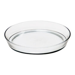 Achla - Large Glass Terrarium Tray - Made of clear glass, this tray is an attractive saucer to place under pots to catch excess water and soil. Construction Material: Glass. 10.5 in. W x 10.5 in. D x 1.5 in. H (3 lbs.)