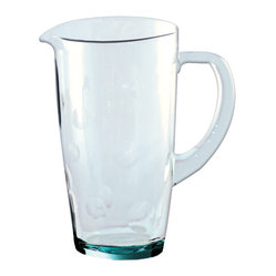 Recycled Glass Pitcher With Dots