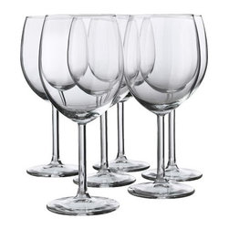 Åsa Gray - SVALKA Red wine glass - Red wine glass, clear glass