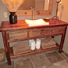 Rustic Bathroom Vanities And Sink Consoles by Rory's Rustic Furniture