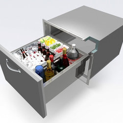 Alfresco - Alfresco Undercounter Ice Drawer | Beverage Center - *All Stainless Steel Construction